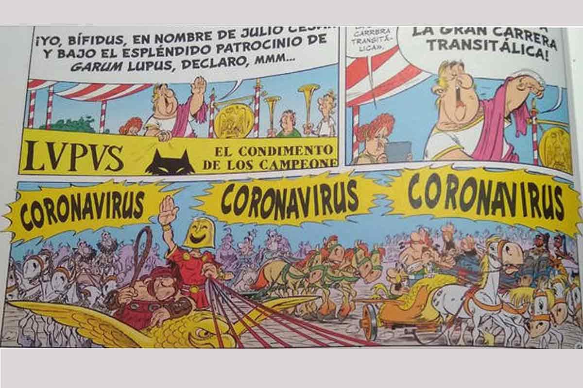El coronavirus ya aparecía en 'Astérix en Italia', publicado en 2017