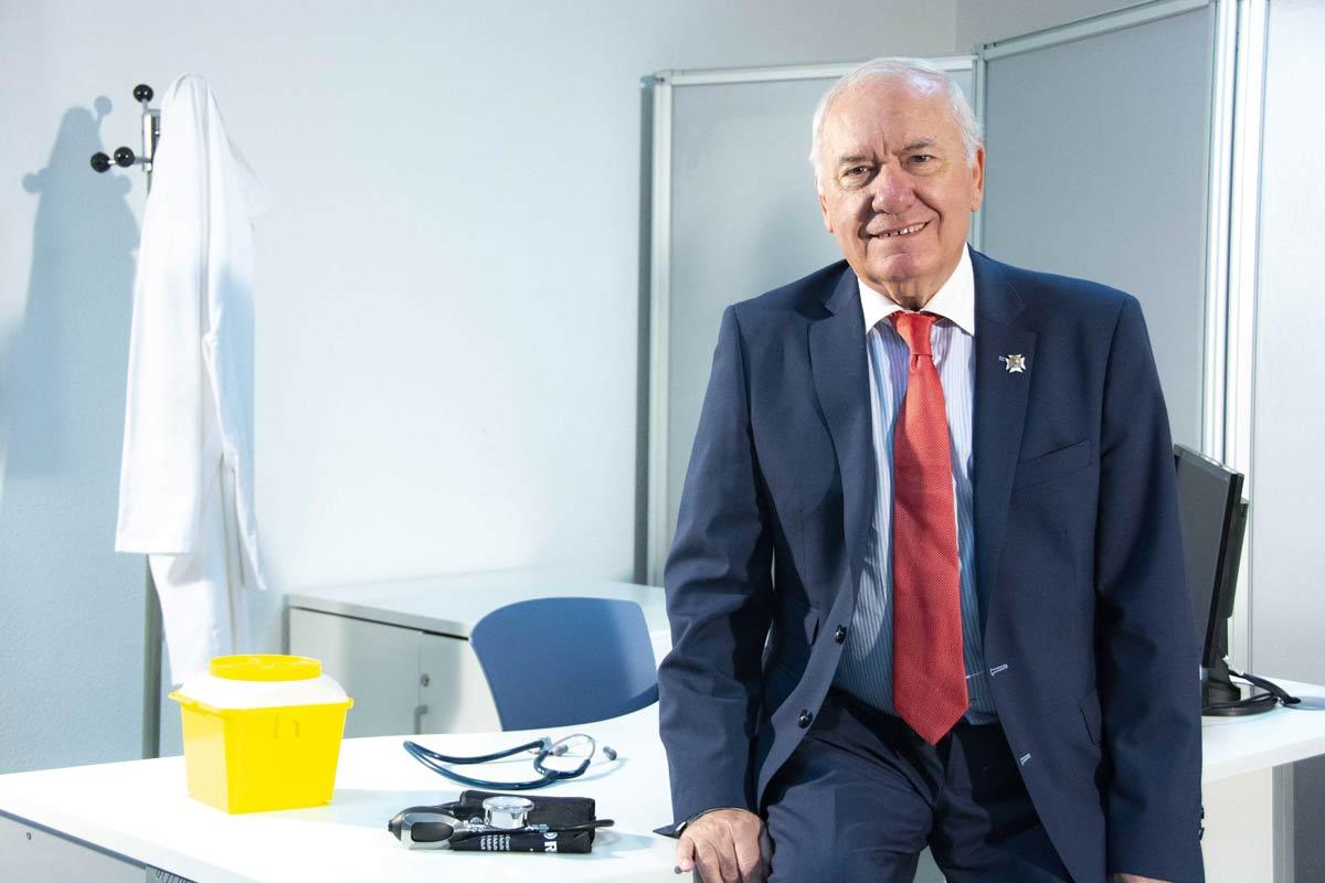 Florentino Pérex Raya, presidente del Consejo General de Enfermería.