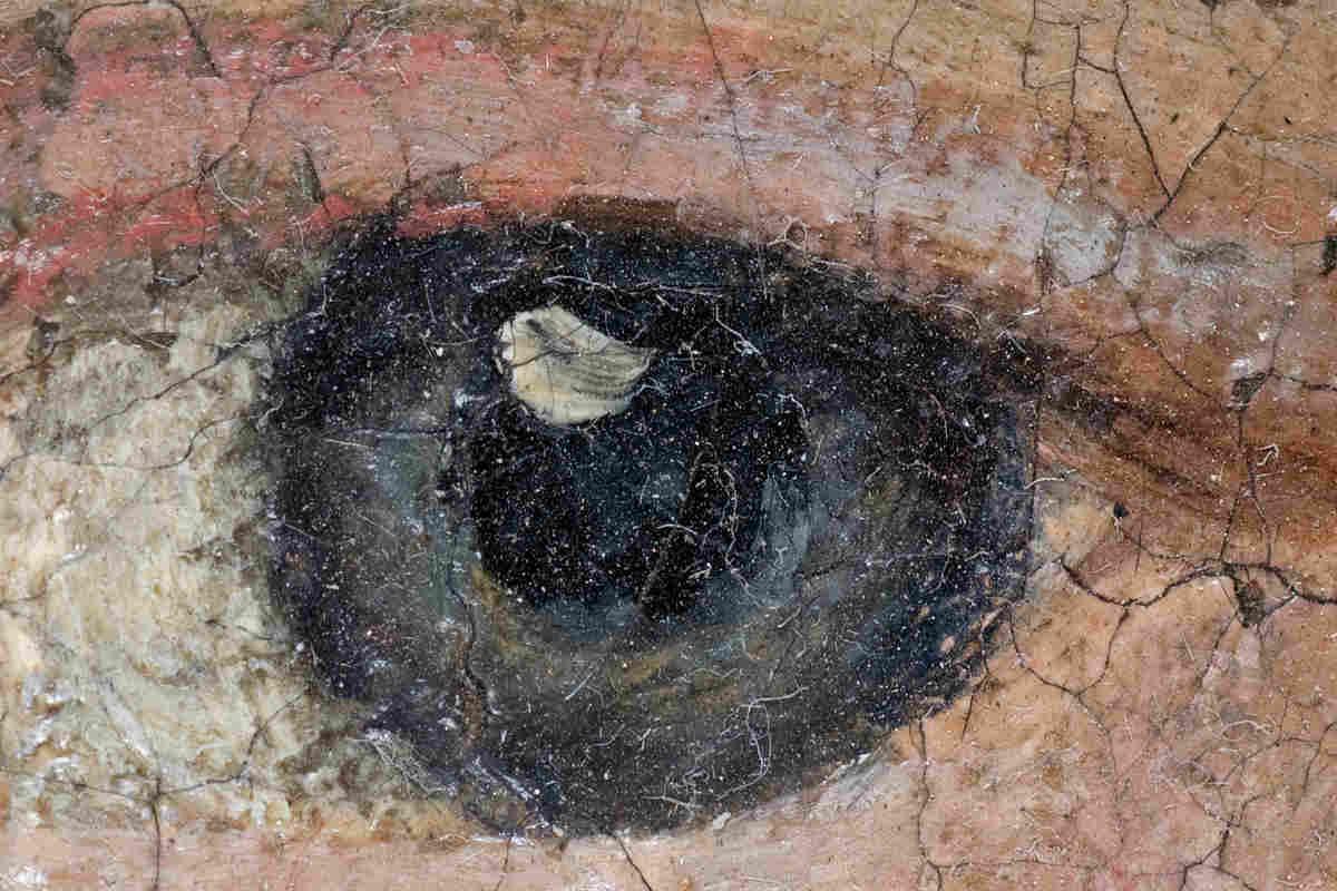 Detalle de un ojo de un cuadro al óleo