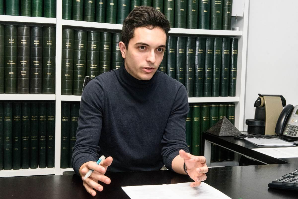 Antonio Pujol de Castro, presidente del Consejo Estatal de Estudiantes de Medicina (CEEM) (Luis Camacho)