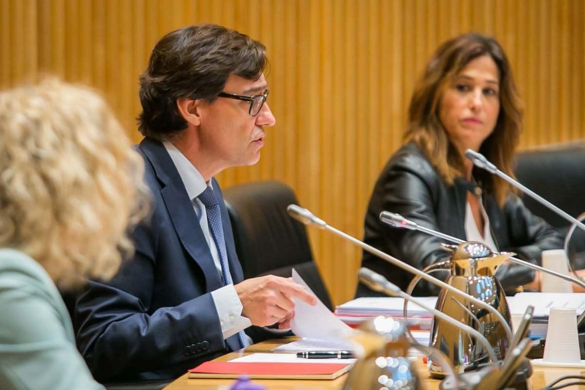 Salvador Illa, ministro de Sanidad, durante su comparecencia en la Comisión de Sanidad del Congreso de los Diputados.