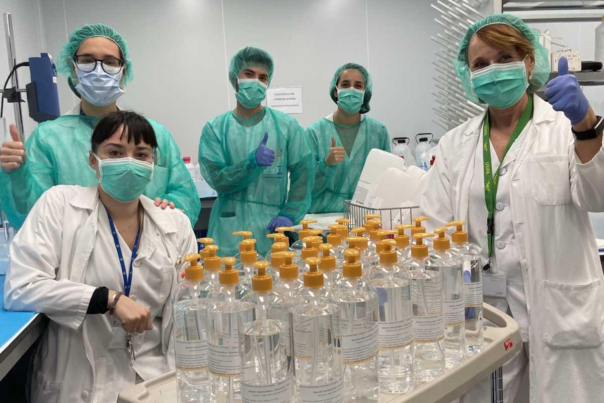 •Envío a domicilio de medicación y reenvasado de solución hidroalcohólica en el Servicio de Farmacia del Complejo Hospitalario de Toledo