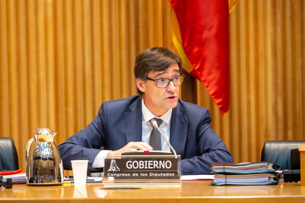 El ministro de Sanidad, Salvador llla, compareciendo ante la Comisión de Sanidad.