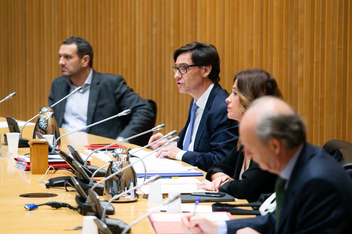 Salvador Illa responde a la oposición durante su comparecencia, hoy, en la comisión de Sanidad (Foto: Ministerio de Sanidad)