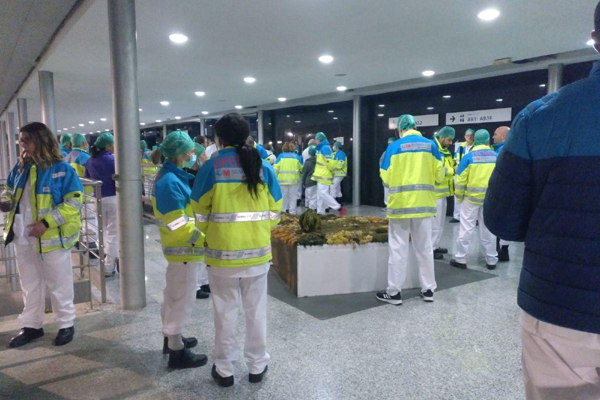 Médicos de Summa 112 en el hospital de campaña de Ifema (CCOO Madrid Sanidad)