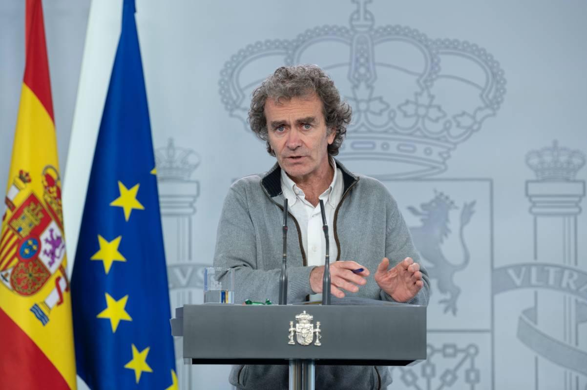 Fernando Simón, director del Centro de Alertas y Emergencias Sanitarias en rueda de prensa para explicar la situación de la epidemia de coronavirus.