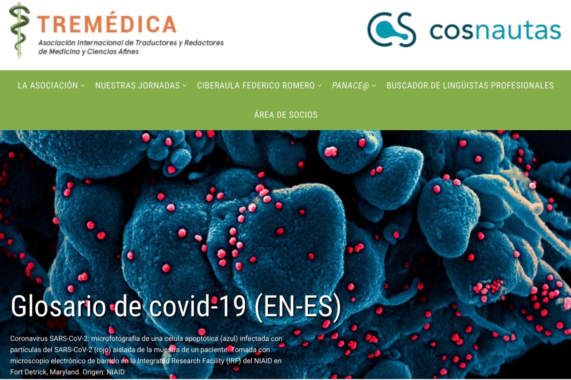 Glosario de covid-19 (inglés>español), con la colaboración de Cosnautas