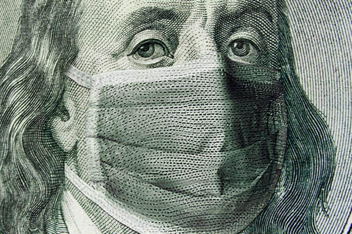 Dólar con mascarilla.