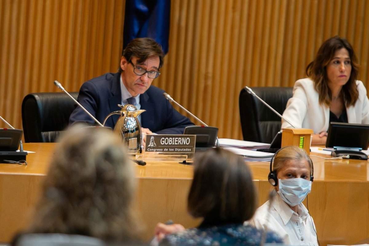 Salvador Illa, ministro de Sanidad, en comparecencia ante la Comisión de Sanidad del Congreso de los Diputados.