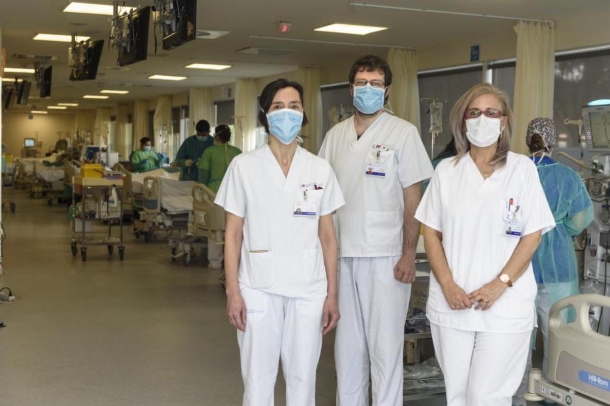 Marta Albalate, Fabio Procaccini y Patricia de Sequera, nefrólogos del Hospital Universitario Infanta Leonor