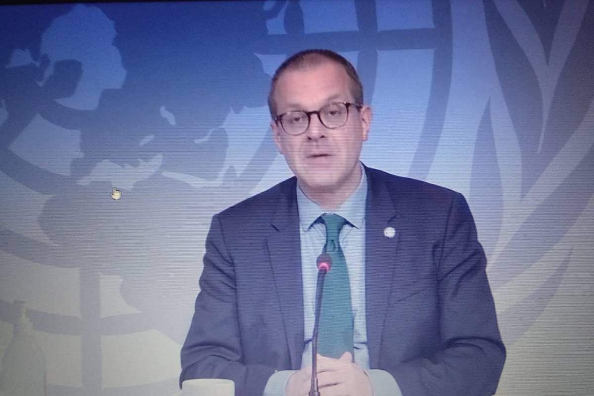 Hans Kluge, director de la Oficina Regional para Europa de la Organización Mundial de la Salud (OMS), en rueda de prensa virtual.