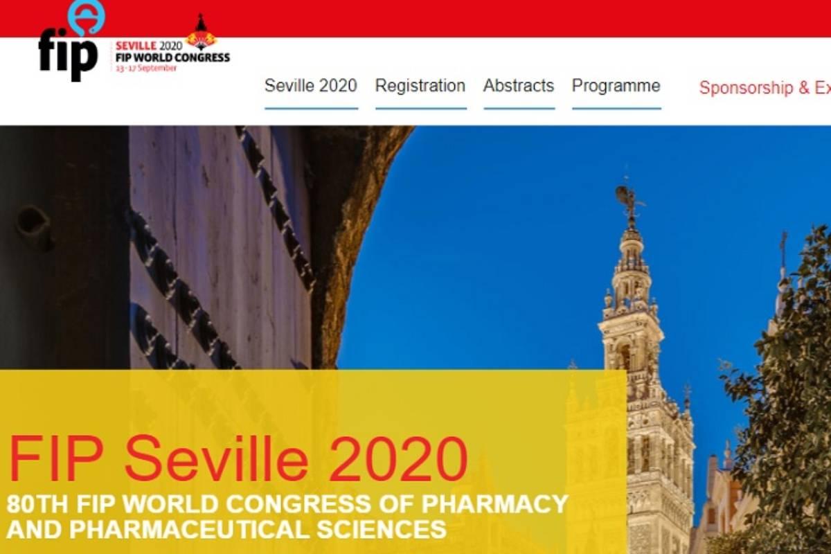 Menú de inicio del 80 Congreso Mundial de Farmacia, de la FIP.