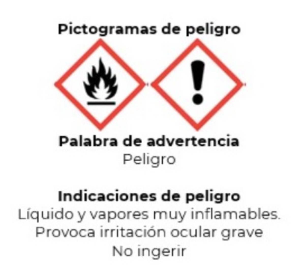Pictograma que debe aparecer en geles hidrooalcohólicos de naturaleza biocida. /Aemps.