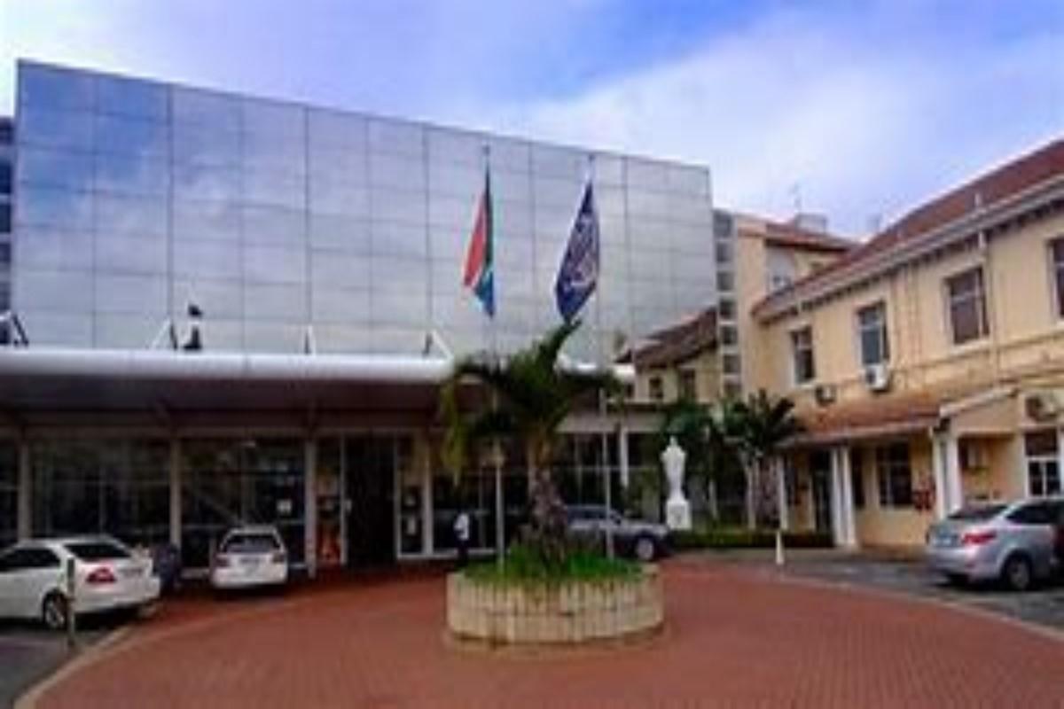 Fachada del Hospital San Agustín, en Durban, Sudáfrica.