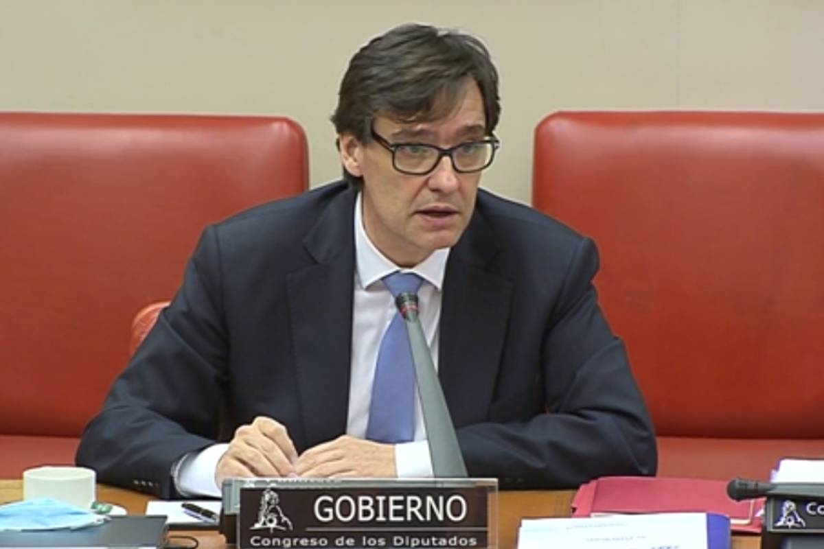 Salvador Illa, en su etapa como ministro de Sanidad, en su comparecencia del 24 de junio en el Congreso de los Diputados.