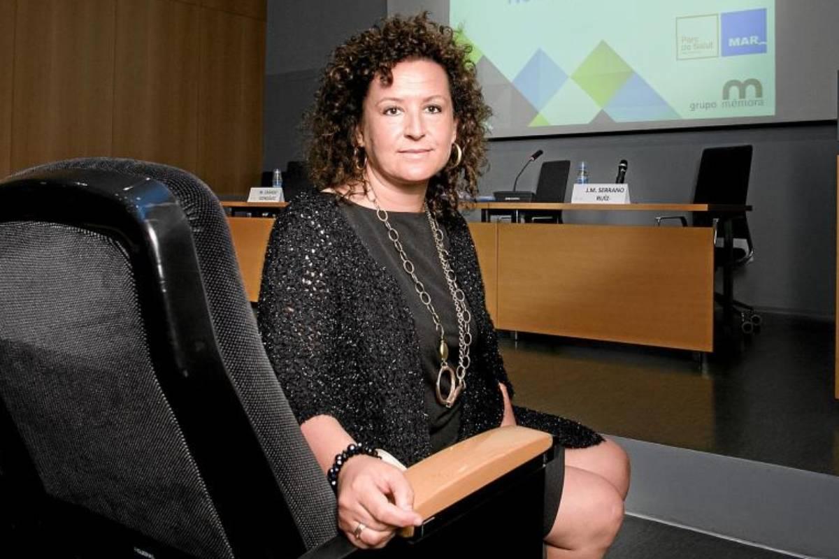 Josefa Cantero, en un congreso de la Asociación Juristas de la Salud.