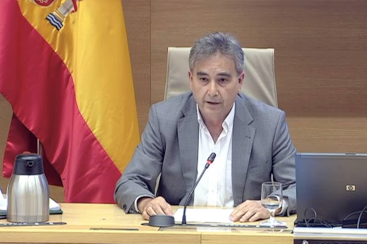 Manuel Cascos, presidente de Satse, en el Congreso de los Diputados.