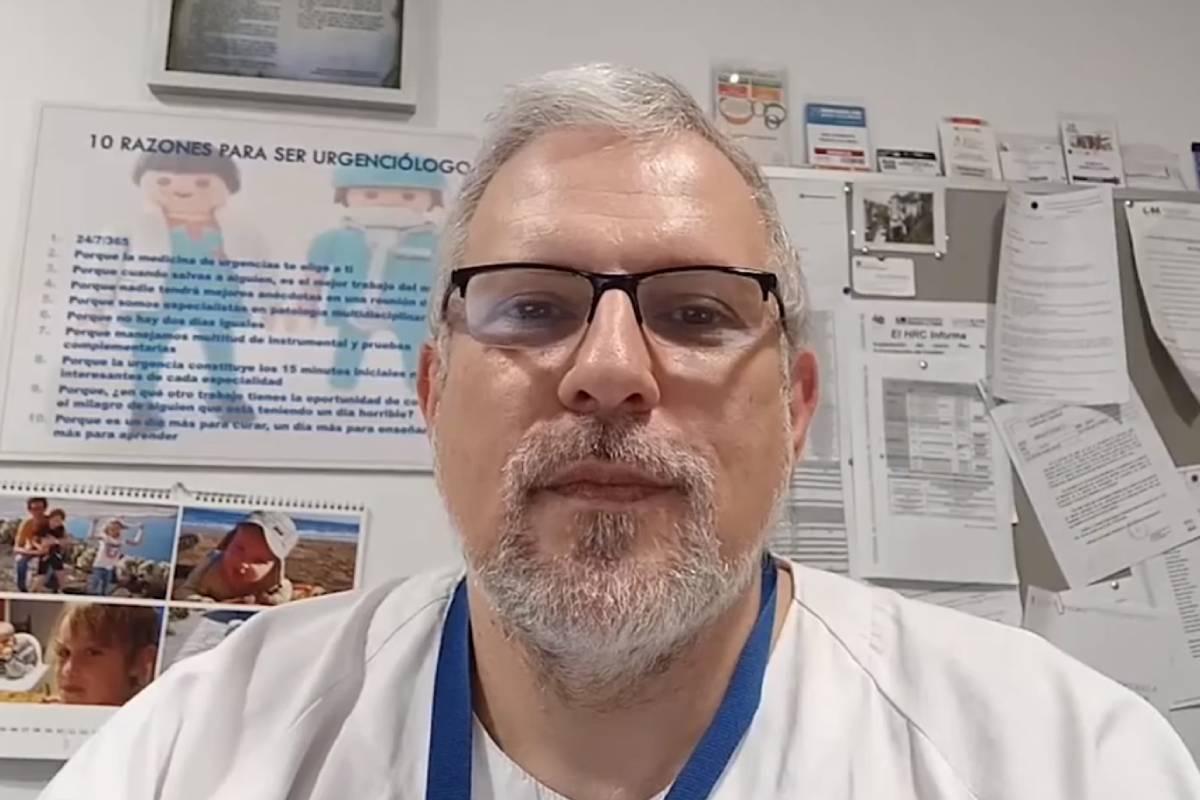 . Roberto Penedo Alonso, Jefe de Servicio de Urgencias del Hospital Universio Ramón y Cajal