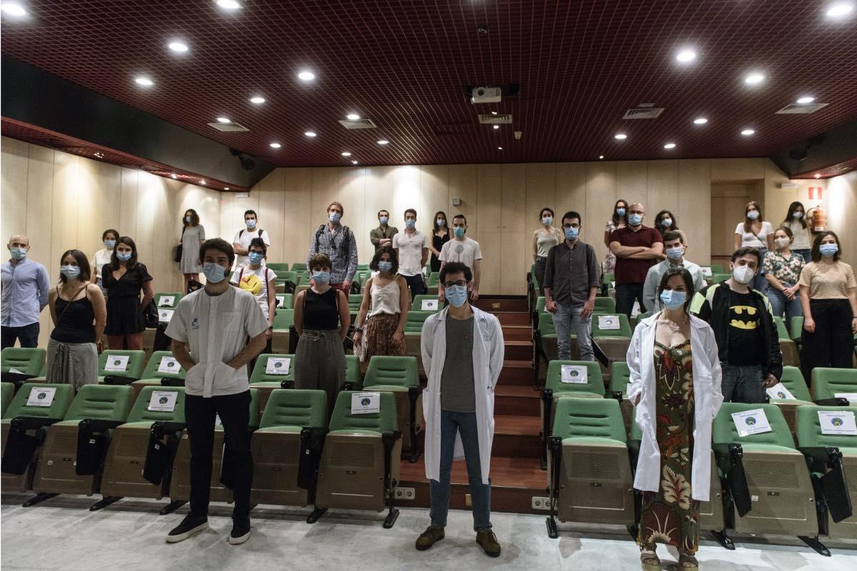 Imagen de una de las asambleas del Comité de Huelga, en el Hospital Niño Jesús (Foto: Luis Camacho)