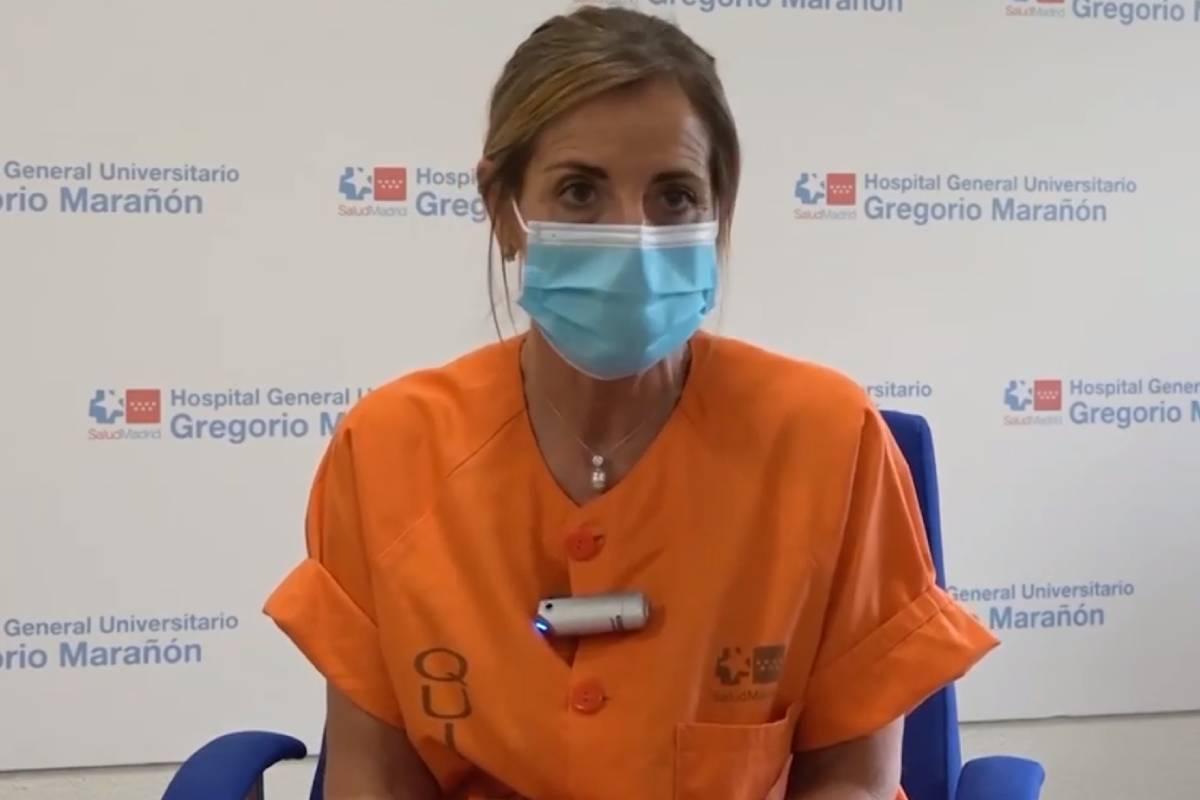Milagros Sancho González, médico del Servicio de Medicina Intensiva del Hospital Gregorio Marañón