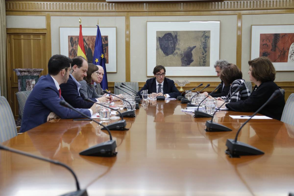 Reunión ministerial de seguimiento del coronavirus, presidida por Salvador Illa.