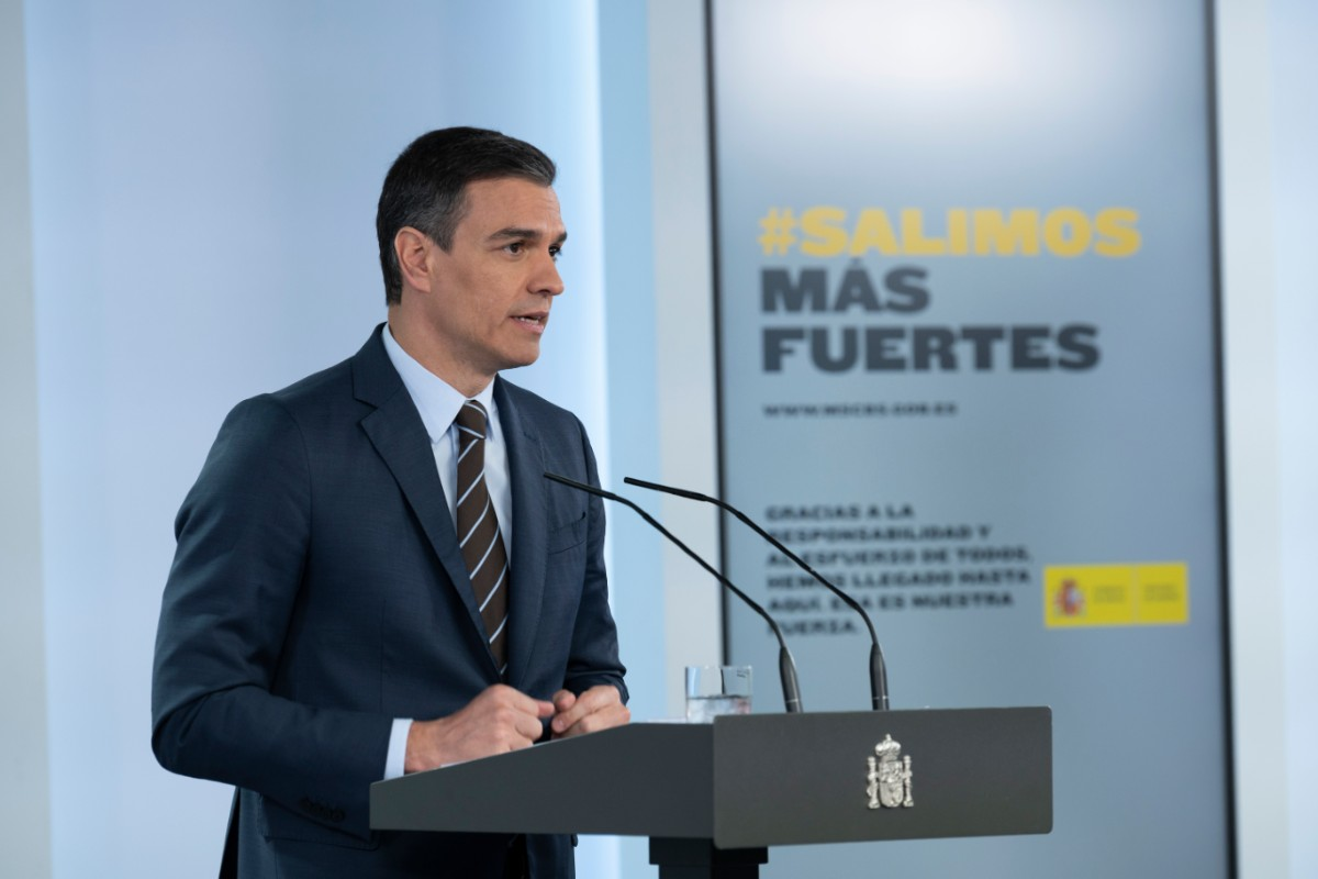 Pedro Sánchez, en la rueda de prensa posterior a la 13 reunión con los presidentes autonómicos (Moncloa/Borja Puig de la Bellacasa)
