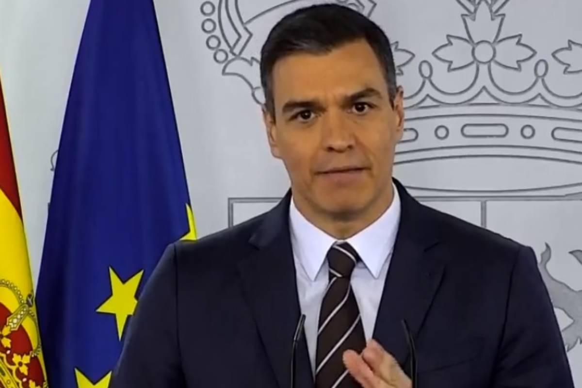 Pedro Sánchez, en la rueda de prensa posterior a la 13 reunión con los presidentes autonómicos.