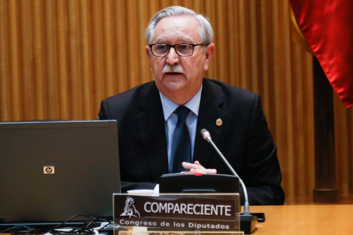 Serafín Romero, presidente del Consejo General de Colegios Oficiales de Médicos, ante la Comisión para la Reconstrucción Social y Económica.