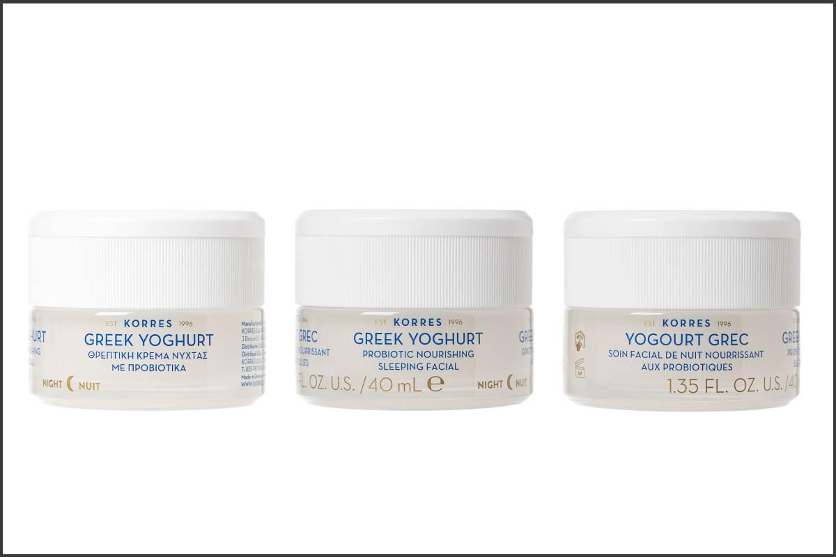 Korres ha lanzado una gama de cosméticos a base de yogur griego, que reestablece el microbioma de la piel.