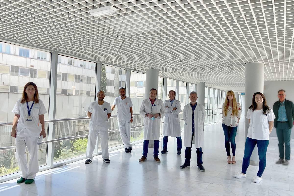 De izquierda a derecha, Marta Feito, Jair Tenorio, Raúl de Lucas, Julián Nevado, Pablo Lapunzina, Víctor Martínez, Gema Gordo, Lara Rodríguez y Antonio Torrelo.