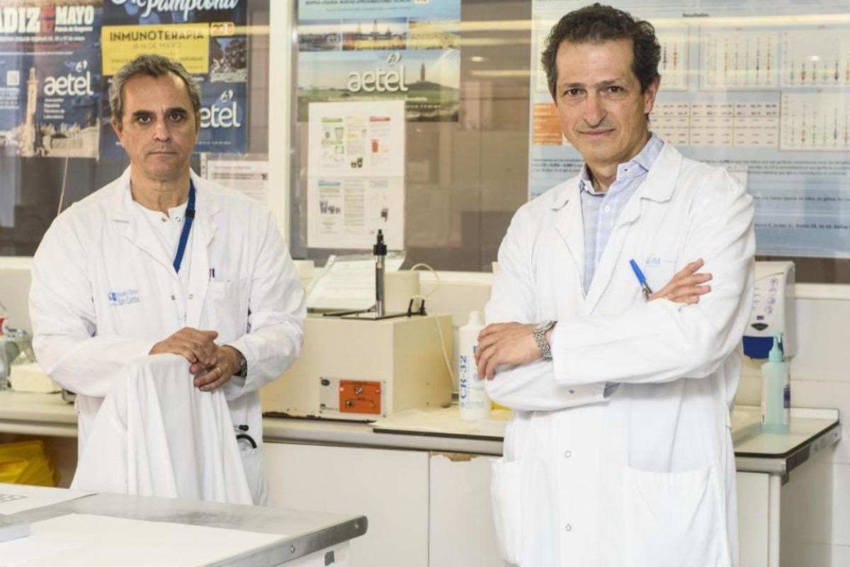 Antonio Portolés y Vicente Estrada, del Hospital Clínico de Madrid.