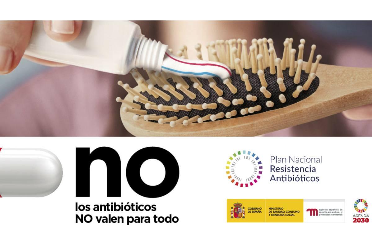 Campaña 'Los antibióticos no valen para todo'.