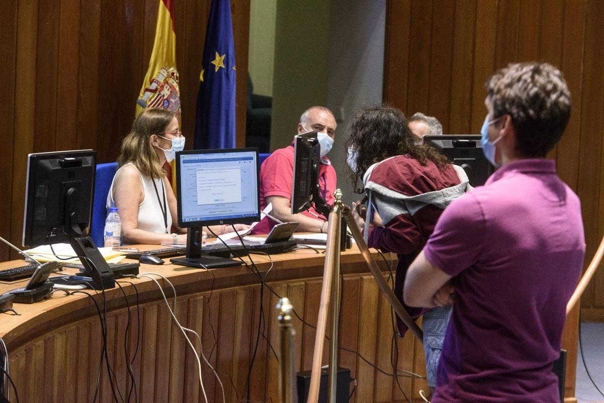 Momento de la elección de la plaza MIR 2020.