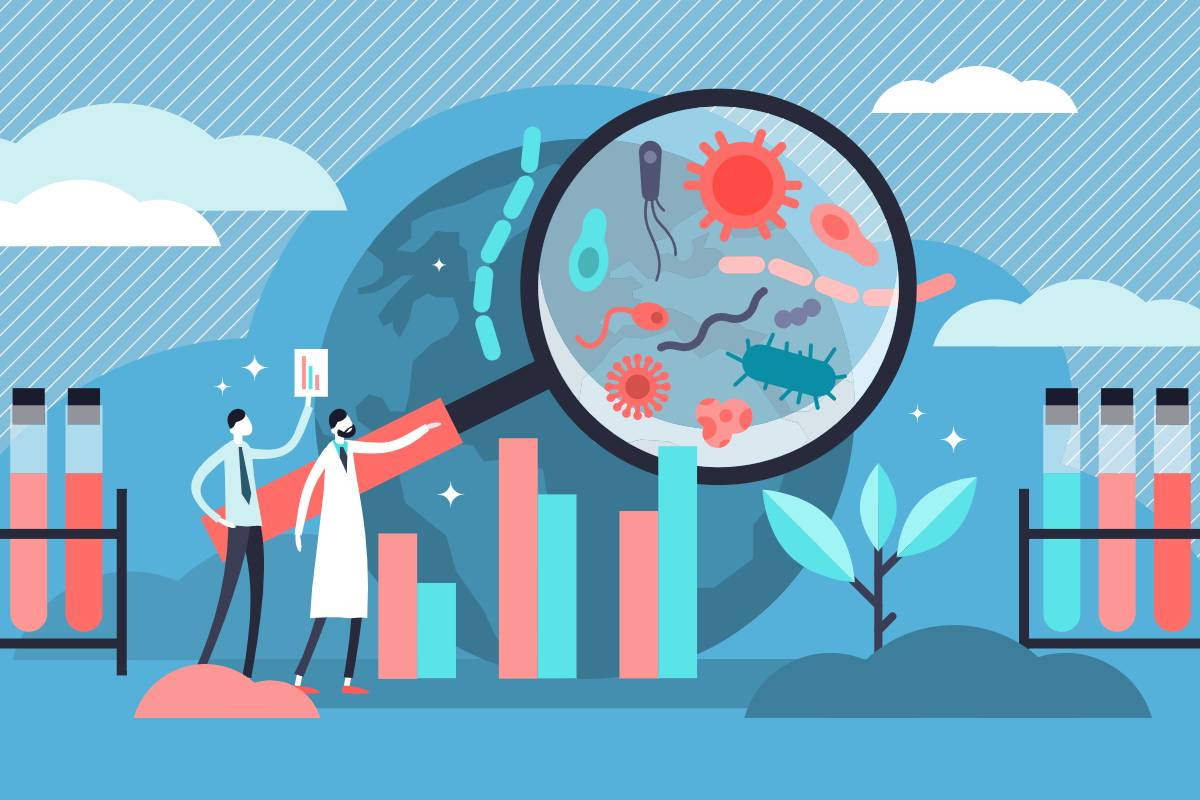 Ilustración sobre epidemiología