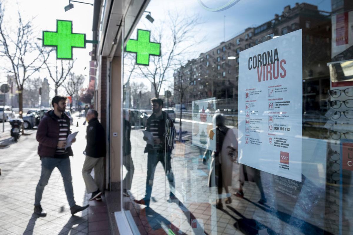 Farmacia madrileña durante el desconfinamiento.