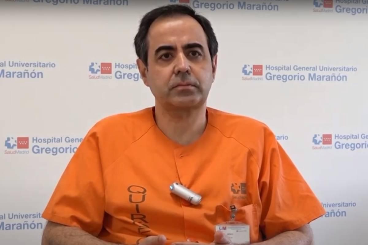 Javier de Miguel, jefe de sección del Servicio de Neumología del Hospital Gregorio Marañón