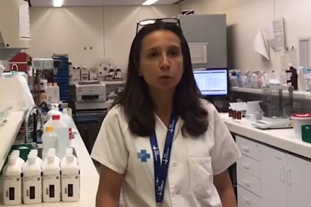 Susana Clemente Bautista, del Servicio de Farmacia del Área Materno Infantil del Hospital Universitario Vall d'Hebron (Barcelona)