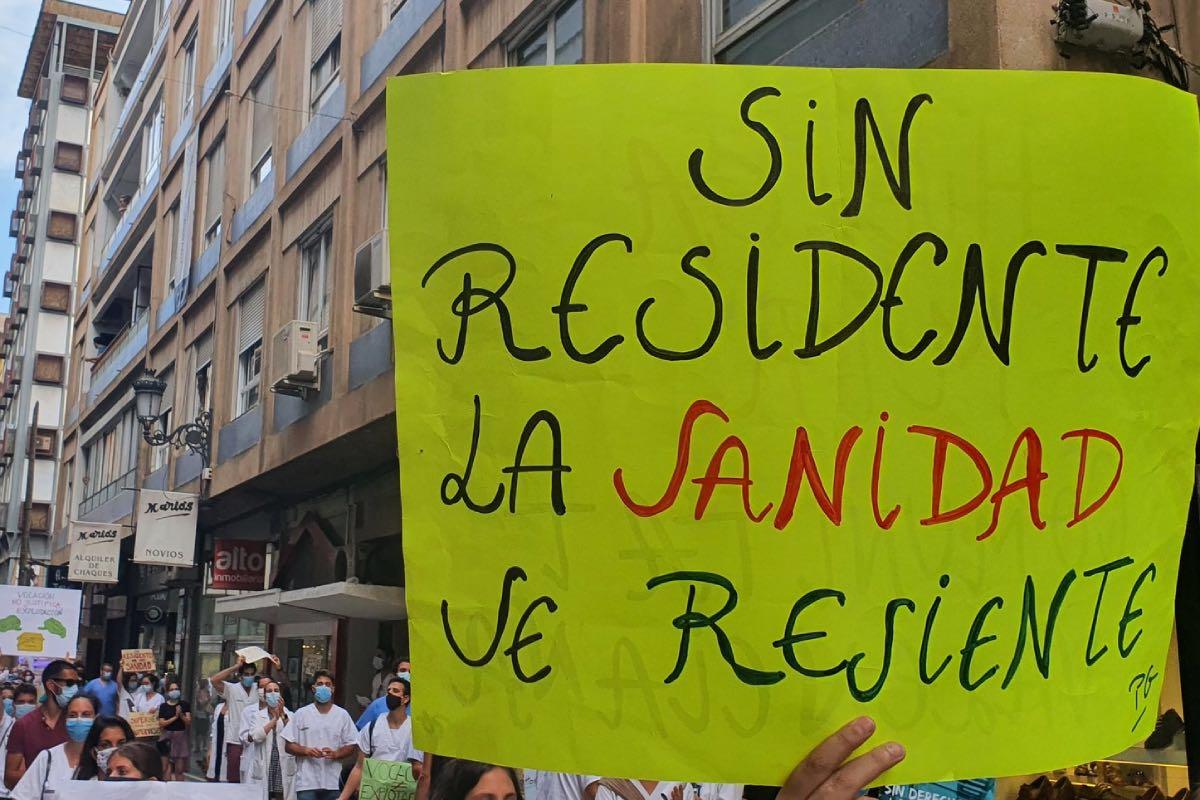 Aspecto de una de las manifestaciones de residentes que estos días han recorrido la Comunidad Valenciana.