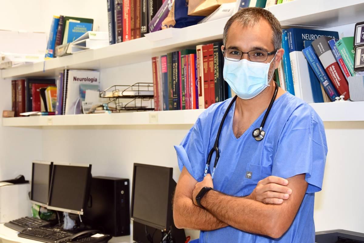 Alberto García Salido, intensivista pediátrico en el Hospital Infantil Niño Jesús, de Madrid.