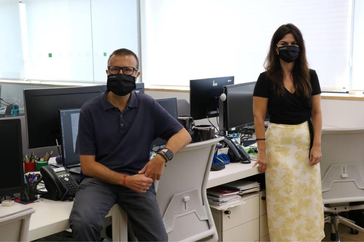 José Luis Molinuevo, director científico del Programa de Prevención del Alzheimer del Barcelonaβeta Brain Research Center (BBRC), y Eider Arenaza-Urquijo, investigadora principal del estudio.