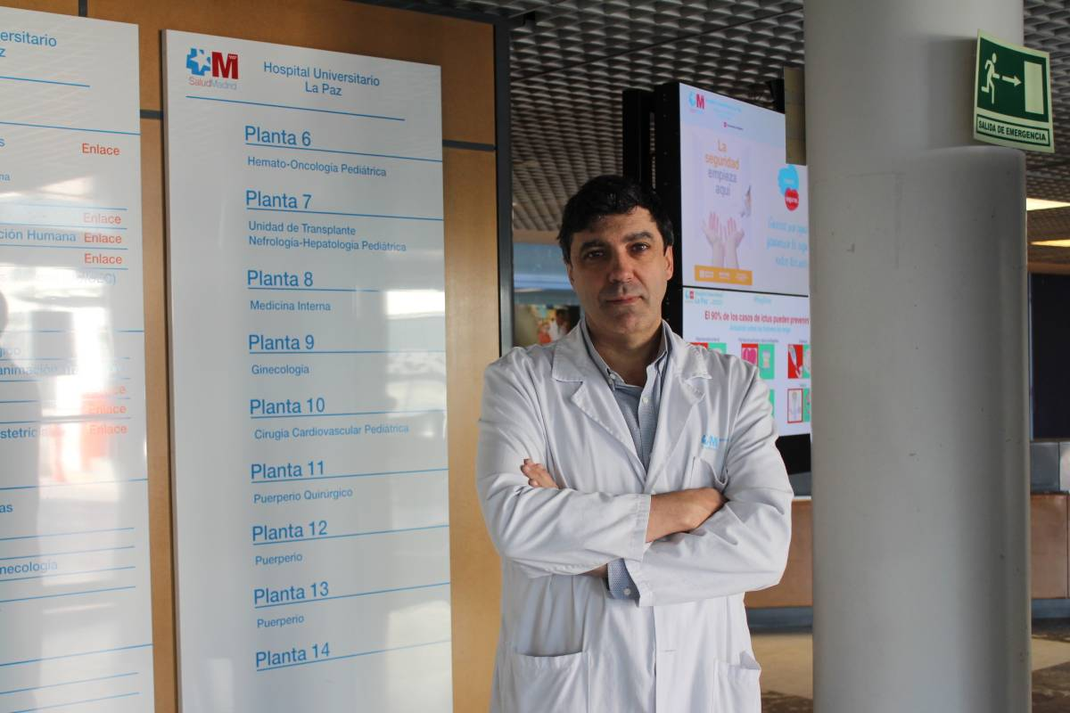 Pedro Herranz, jefe del Servicio de Dermatología del Hospital La Paz, de Madrid.