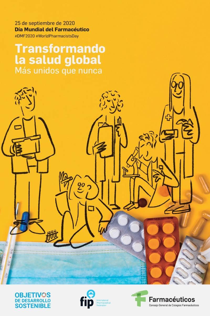 Cartel conmemorativo del D�a Mundial del Farmacéutico 2020 (25 de septiembre).