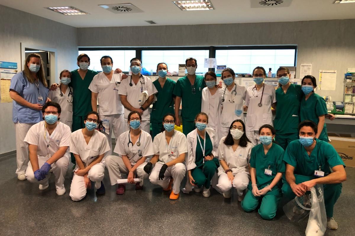 Equipo de planta covid del Hospital Puerta de Hierro, en Madrid.