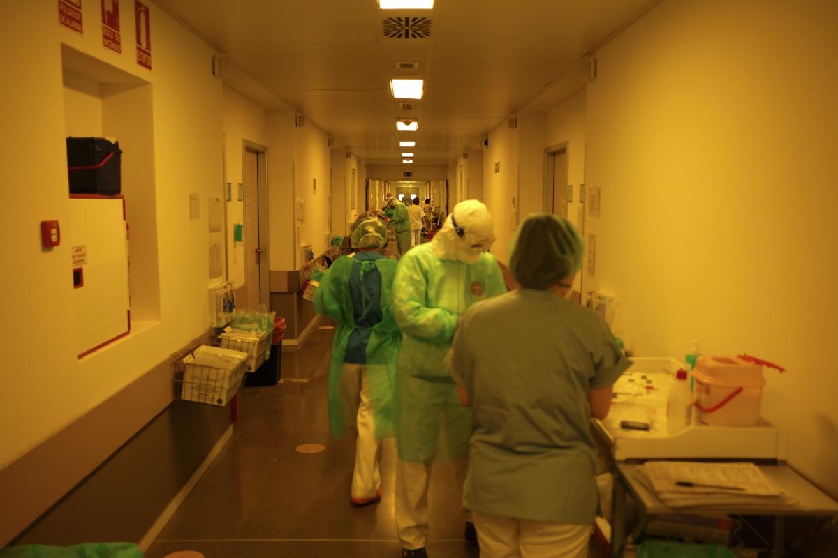 Interior del Infanta Leonor el pasado mes de abril, en plena oleada de la pandemia (Fotografía: Alberto Rojas).