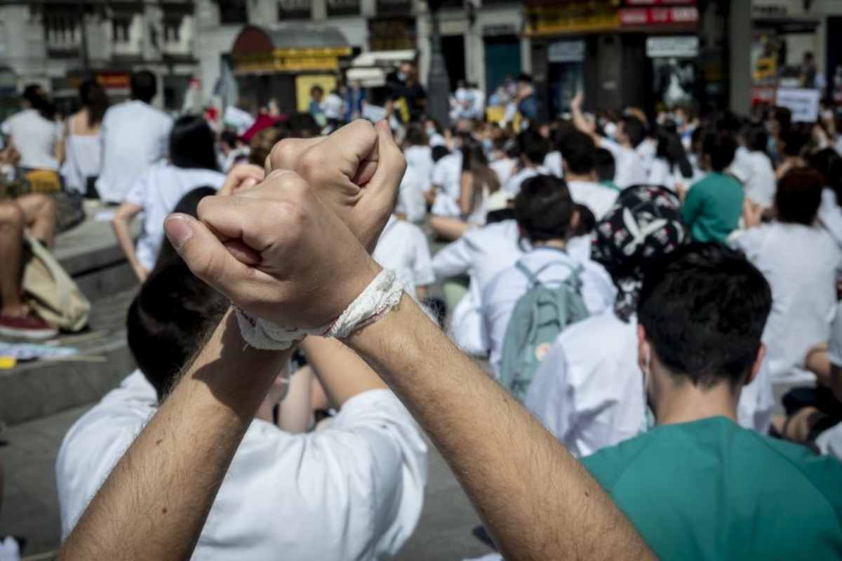 Manifestación de los MIR de Madrid.