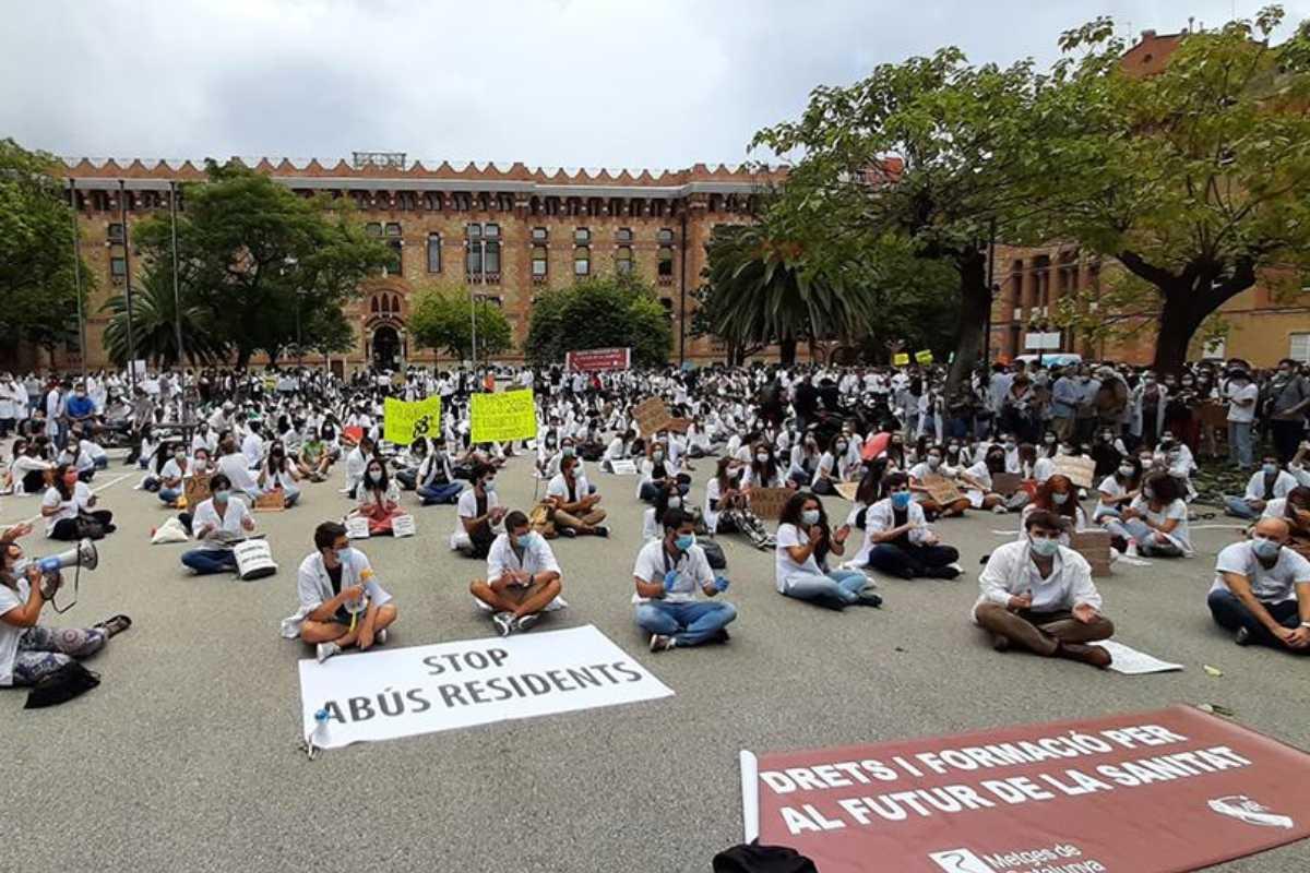 Manifestación de los MIR catalanes. MC