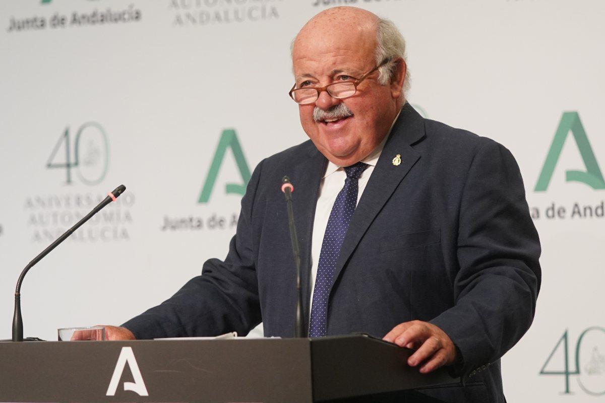 Jesús Aguirre, consejero de Salud de Andalucía.