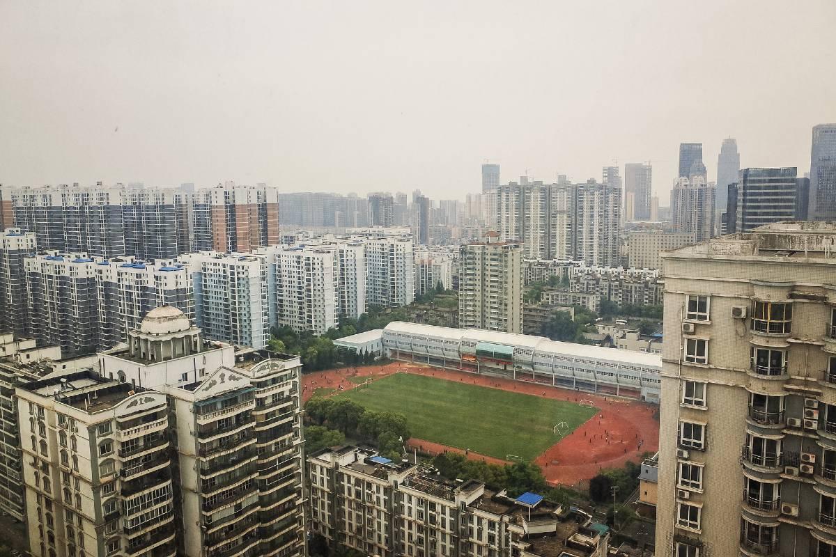 Vista panorámica de Wuhan, en China.