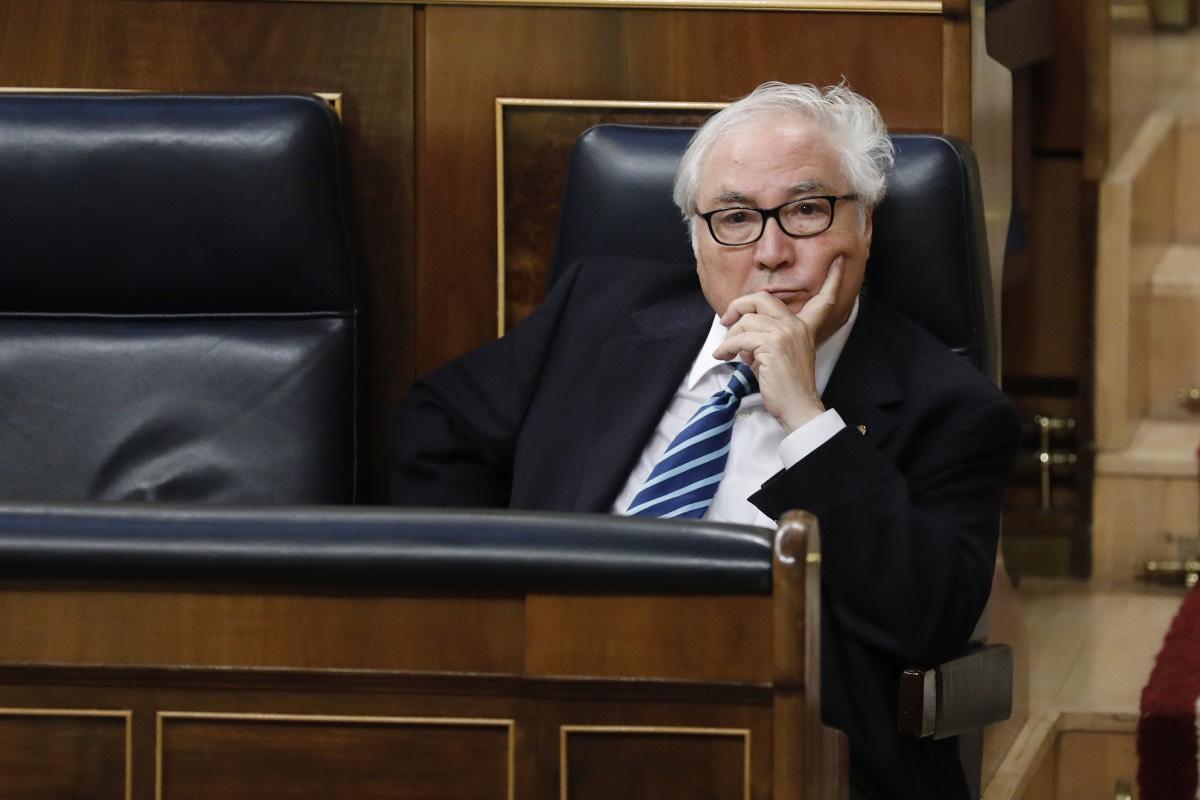 El ministro de Universidades, Manuel Castells, en una reciente comparecencia parlamentaria.