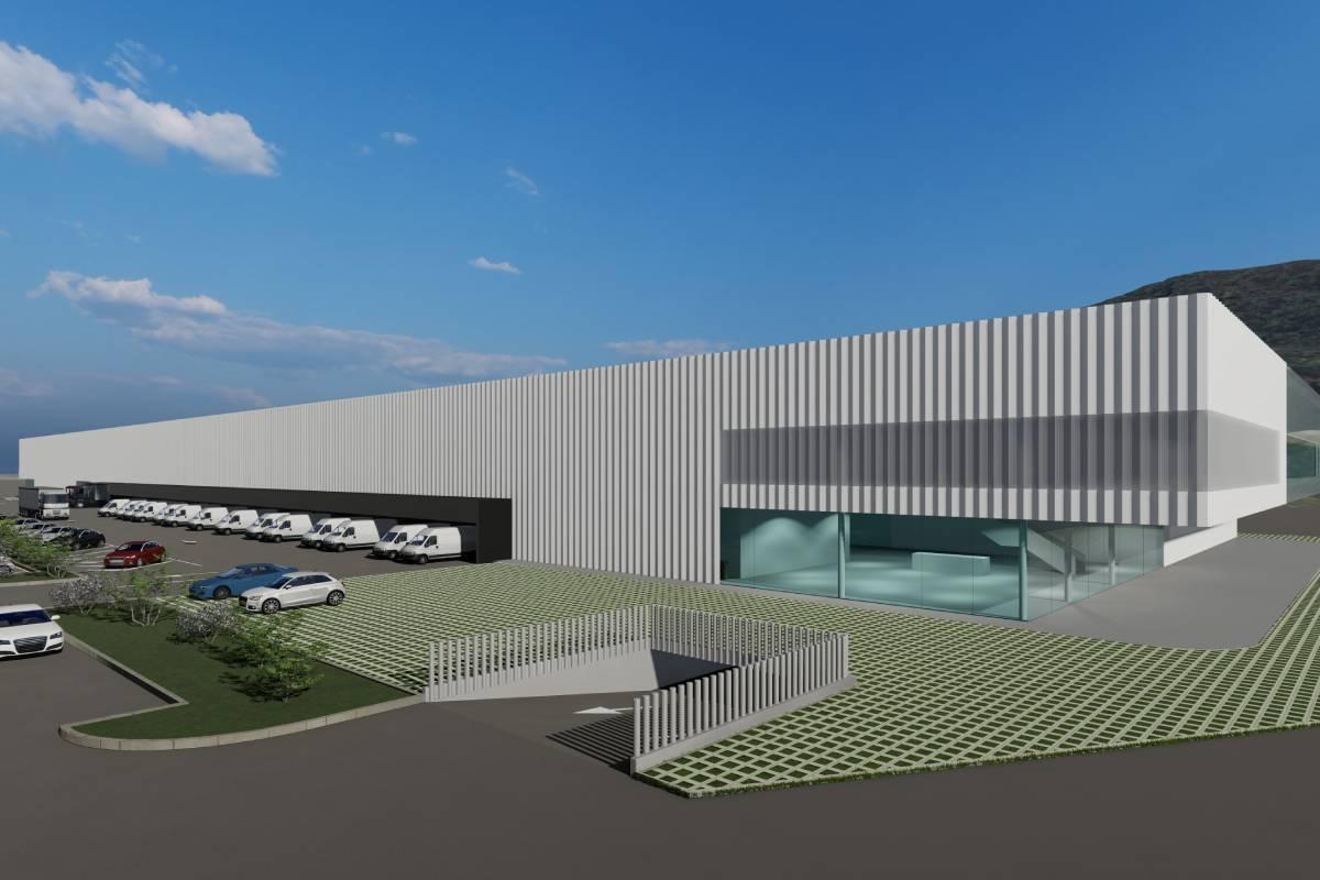 Proyecto del nuevo centro logístico que inaugurará DFG.